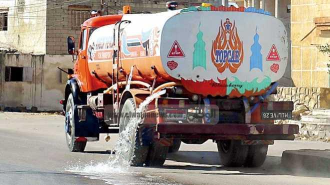 انقطاع المياه عن 100 ألف نسمة في الدقهلية