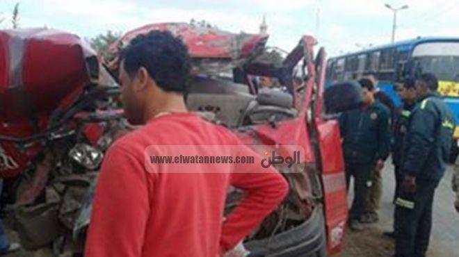 إصابة 7 فى حادث تصادم بطريق بلبيس ـ القاهرة الصحراوي