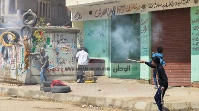 اشتباكات بين مسيرة إخوانية وقوات الأمن في المطرية