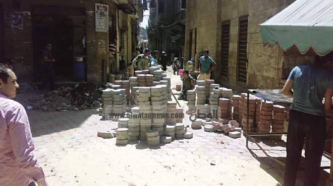 رصف الشوارع..تجميل القاهرة القديمة