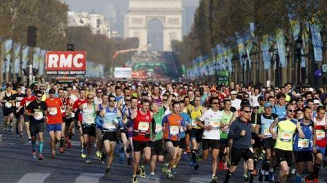 بالصور| انطلاق فعاليات ماراثون باريس في العاصمة الفرنسية