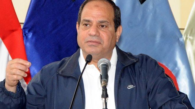 السيسي: تحية لكل يد مصرية حررت أرض سيناء من الإرهاب الغاشم