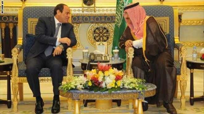 بالصور  قمة مصرية سعودية خلال زيارة السيسي