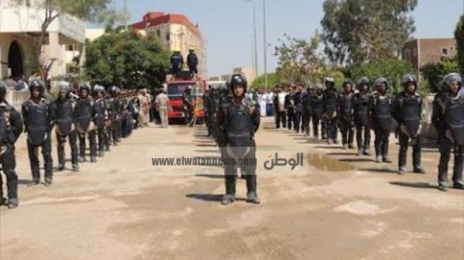 جنازة عسكرية لشهيد الشرطة في الشرقية