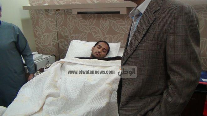 وليد سليمان يجري أشعة للاطمئنان على العملية الجراحية