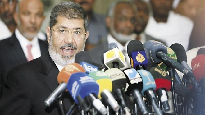 مرسي يفتتح كلمته في مؤتمر