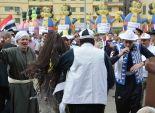 توافد المواطنين على ميدان الشهداء بالمنصورة للاحفتال بذكرى 25 يناير