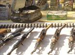 ضبط 30 بندقية آلية و13 ألف طلقة و3 كيلو هيروين خلال شهر ابريل