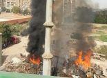 انتداب المعمل الجنائي لمعرفة أسباب حريق مخزن شركة المقاولون العرب بالمنيب