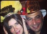 بالصور| غادة عادل تحتفل برأس السنة مع زوجها مجدى الهوارى
