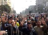 تجمع العشرات من أنصار المعزول أمام مسجد خاتم المرسلين بالعمرانية