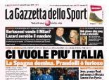 بالصور   الصحف الإيطالية تبدي حزنها على الخسارة من اسبانيا ودياً