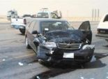 إصابة 3 أشخاص في حادث تصادم شاحنة وقود مع