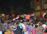 بالصور  الآلاف يتوافدون على ميادين السويس للاحتفال بفوز السيسي