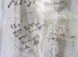 بالصور| طفلة مريضة بالسرطان تترك رسالة من 3 آلاف كلمة لأسرتها خلف المرآة