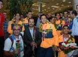 بالصور| مطار القاهرة يستقبل أبطال