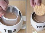 بالصور| Cookie Catcher أداة جديدة لعشاق تناول الشاي مع البسكويت