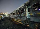 التحريات المبدئية لحريق قطار شطانوف بالمنوفية: