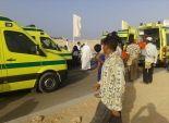 10 سيارات إسعاف لنقل مصابي حادث أوتوبيس العلمين