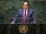 التلفزيون المصري يذيع لقطات من لقاء السيسي بأوائل الجامعات بعد انتهاء حفل التكريم