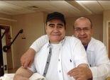 بالصور  سيد زيان يجري جلسات علاج طبيعي في الرياض