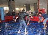 كرة القدم على ملاعب من الصابون في جامعة بنها