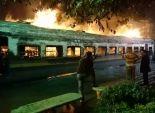 مدير أمن المنوفية يتعهد بضبط الجناة في حريق قطار شطانوف