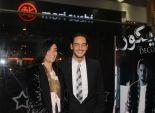 خالد أبو النجا وحورية فرغلي في العرض الخاص لـ
