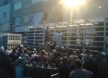 زحام أمام مستودعات البوتاجاز بالفيوم في انتظار وصول سيارات البوتاجاز