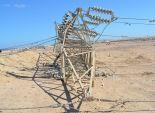 انفجار جسم غريب ببرج كهرباء على طريق
