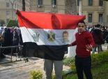 بالصور| طلاب الإخوان يتظاهرون أمام المكتبة المركزية بجامعة القاهرة