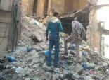 إخلاء أسرتين بعد انهيار أجزاء من منزل بالمنصورة دون وقوع اصابات