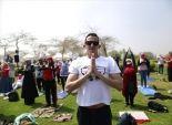 بالصور| السفارة الهندية تنظم احتفالية لممارسة اليوجا في حديقة الأزهر