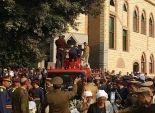 جنازة عسكرية لشهيد المنوفية في استهداف إرهابيين لمعسكر قوات الأمن برفح