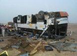 مصرع سيدة وإصابة 15 في حادث تصادم أتوبيس وسيارة ملاكي بطريق السخنة