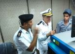 مدير الإدارة العامة لشرطة النقل والمواصلات يتفقد مترو السادات