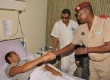بالصور| وفد من الملحقين العسكريين يزور مصابي الجيش