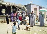 أطفال ونساء فى احتجاجات «العطش» أمام محافظة كفر الشيخ