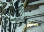 مباحث النجيلة تضبط 50 سلاح خرطوش وقطع غيار داخل مخزن سري