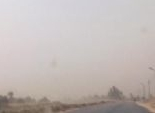شلل مروري بالطرق الصحراوي بسبب العواصف الرملية في بني سويف